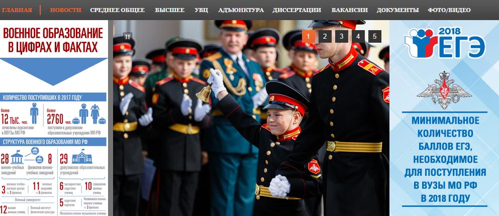 Министерство обороны рф официальный сайт