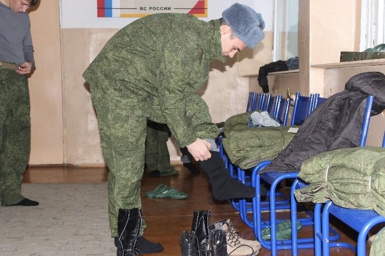 Выдача военного обмундирования